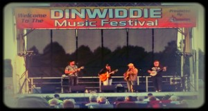 Larry Cordle takes the stage at the Dinwiddie Music Festival.